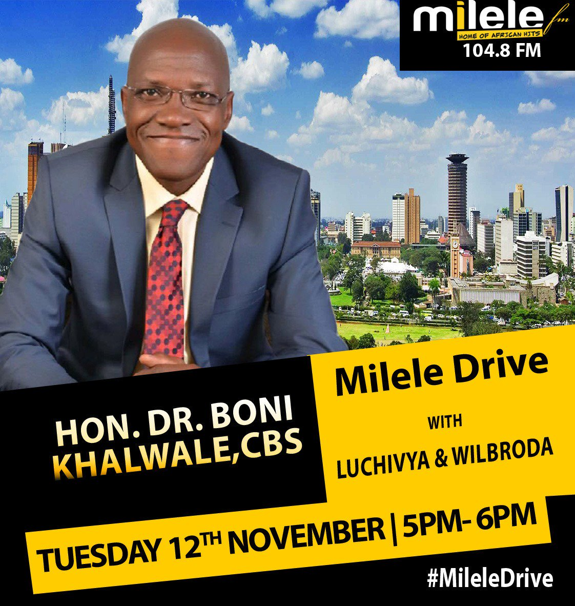 He will be LIVE on #MileleDrive at 5pm to talk about his experience in the hands of political thugs during the #KibraByElection @KBonimtetezi @Luchivya @wilbrodanyamin<br>http://pic.twitter.com/neHVH8IylV