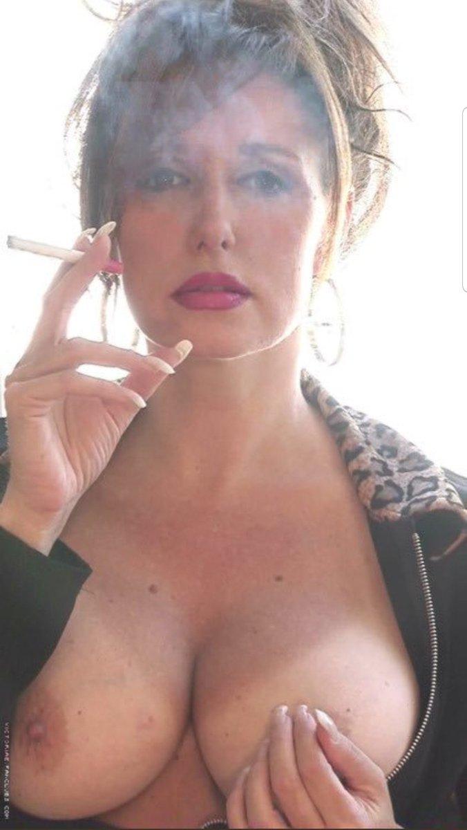 Elegant Black Mature Smoking Cigarettes