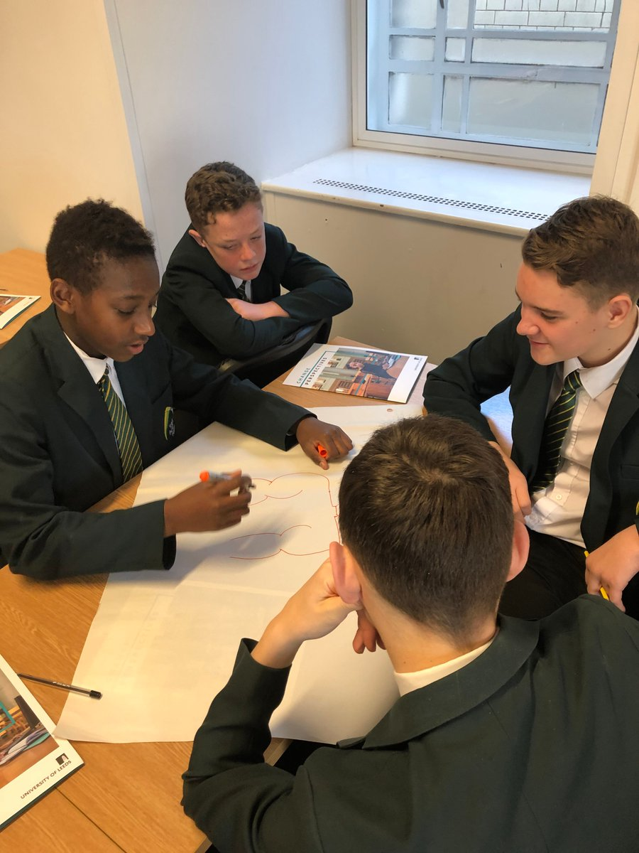 Year 9 students are visiting @UniversityLeeds today for a higher education experience day. Students have embraced the activities and campus tour! #highered #brightfuture