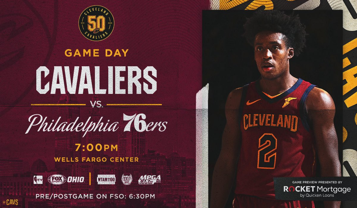 Looking to go 3-0 on the road trip!  #CavsSixers PREVIEW: http://bit.ly/2NDZgkn  #BeTheFight