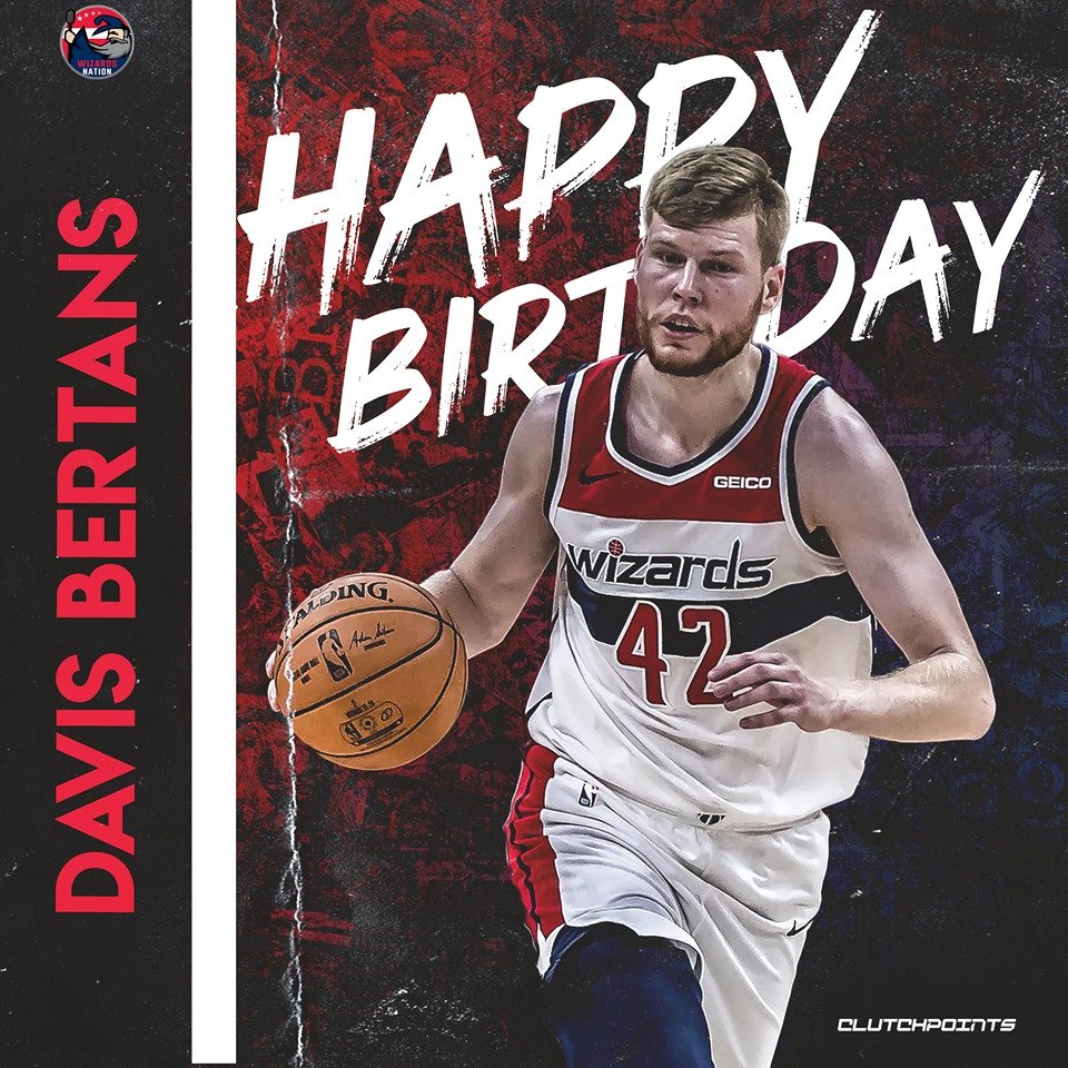 Join Wizards Nation in wishing Davis Bertans a happy 27th birthday! 🎉🎂  #RepTheDistrict #Wizards