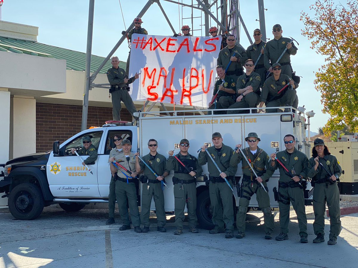 We stand with @LAFD FF #EricStevens in the battle against #ALS  We challenge other @MtRescueAssoc teams to do the same. @MontroseSAR @AltadenaMRT @SierraMadreSAR  @stevens_nation #axeALS @TheEllenShow @LAFD @LACOFD  https://stevensnation.com/