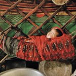 Image for the Tweet beginning: Photographs of Kyrgyz nomads, in