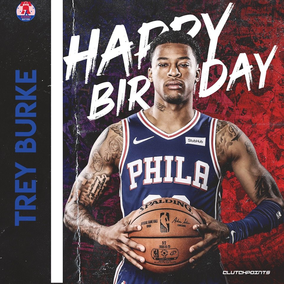 Join Sixers Nation in wishing Trey Burke a happy 27th birthday! 🎉🎂  #PhilaUnite #Sixers