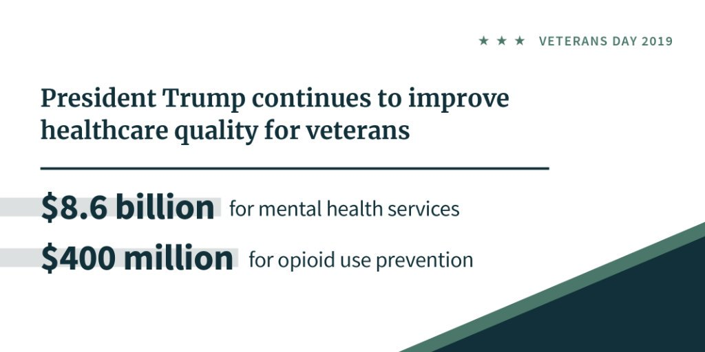 President @realDonaldTrump is working hard to give our returning warriors the resources they need to go back to civilian life with dignity and security. 45.wh.gov/Lpdo97