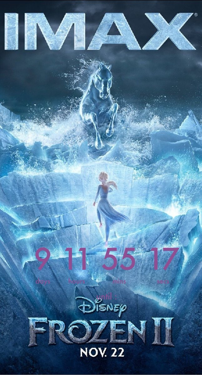 Less than 10 days until #Frozen2  I am so excited!!! 😊❄👑