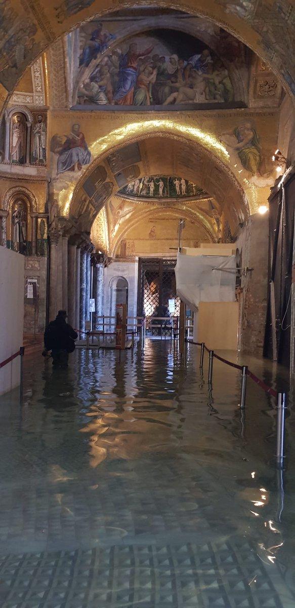 #Venezia, allagato il nartece della Basilica di Sa...
