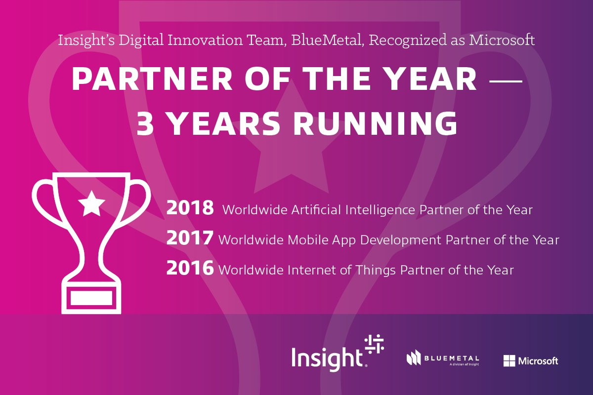 Excited to share this recognition for my company. Way to go @InsightEnt's Digital Innovation team, @BlueMetalInc! #MSpartner #MSinspire http://ms.spr.ly/6002rNVT2