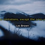 """Image for the Tweet beginning: """"Life has no limitations, except"""