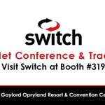 Image for the Tweet beginning: Visit @Switch at Booth 319