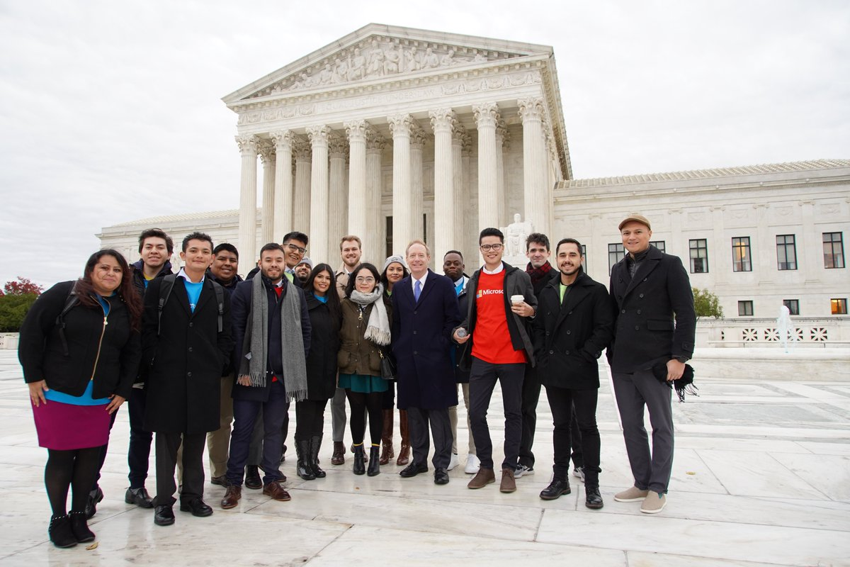 University students like @Princeton's Maria and our more than 60 @Microsoft #Dreamers should be allowed to work, study and thrive in the United States, and not be forced to leave the only country they have ever really known as home. #SCOTUS