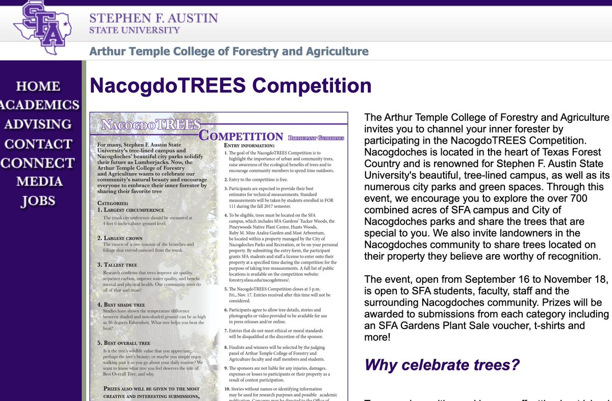 One week left to share a tree you believe deserves recognition! ...and did we mention prizes? https://t.co/3QvrP8TqE3 https://t.co/3zUB9QvRgy