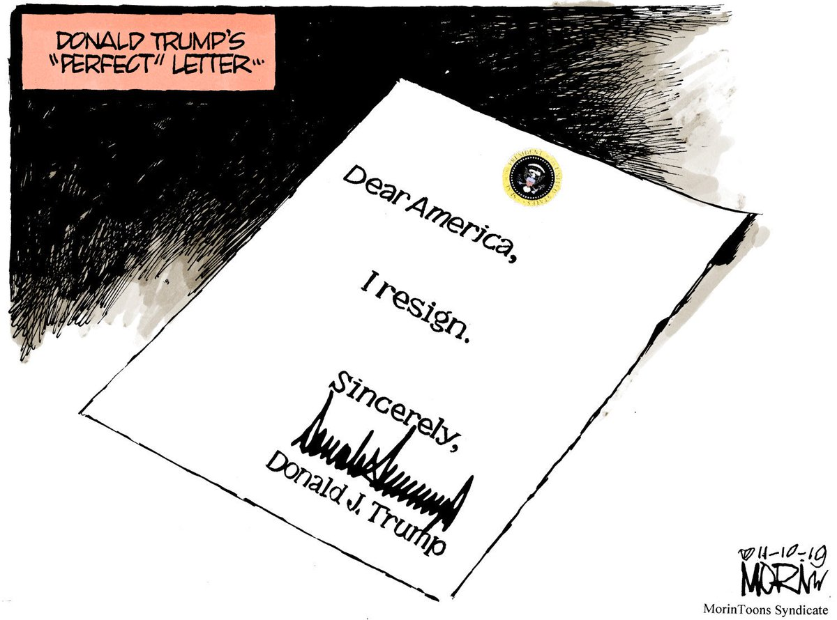 Perfect letter from an deeply imperfect man #morintoon #TrumpBribed #Trump2020 #TrumpExtortionist #TrumpRussia #TrumpGenocide #impeachment #ImpeachAndRemoveTrump #ImpeachmentVote<br>http://pic.twitter.com/nPs2YbbnJh