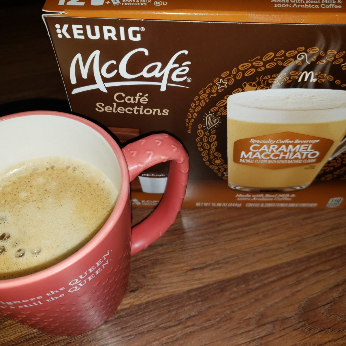 #ad Smells amazing right now! The McCafe caramel macchiato from Keurig is delicious. You can find this product and other flavors at @walmart Thanks @shespeaksup for letting me give this a try. ⁣⁣ ⁣⁣#SimplyDeliciousAtWalmart #coffee #keurig #McCafe  #coffeetime #macchiato<br>http://pic.twitter.com/QX3WSLMBUz