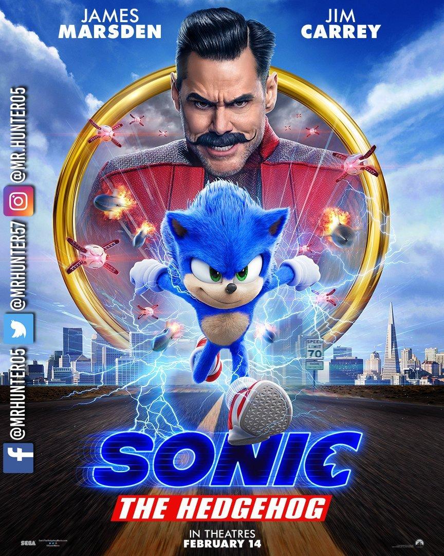 Nuevo póster de la película de #Sonic.  #SonicLaPelícula #LuisitoComunica #SEGA #ParamountPictures #SonictheHedgehog #DrRobotnik #SonicMovie #SonicLiveAction #JimCarrey #DrEggman #PlayStation #PlayStation4 #PS4 #Xbox #XboxOne #XB1 #XOne #EpicGames #Nintendo #NintendoSwitchpic.twitter.com/KBH9BLk1aH
