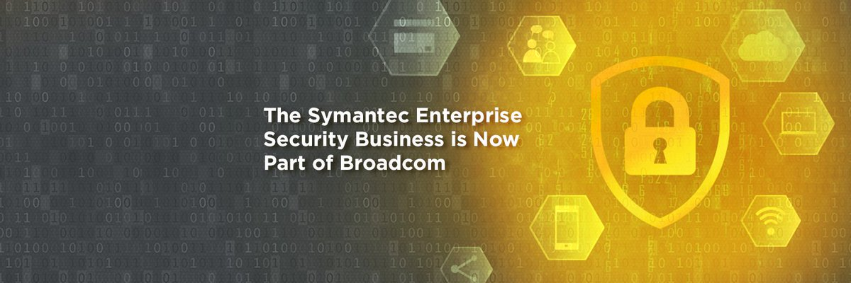 Symantec Enterprise Security Products are now part of Broadcom. Be sure to follow @Broadcom to receive future company updates. The consumer division of Symantec Corp. is now @NortonLifeLock Inc. -- a standalone cyber safety company. https://t.co/xlXkD41uXp https://t.co/iehp6mB90S