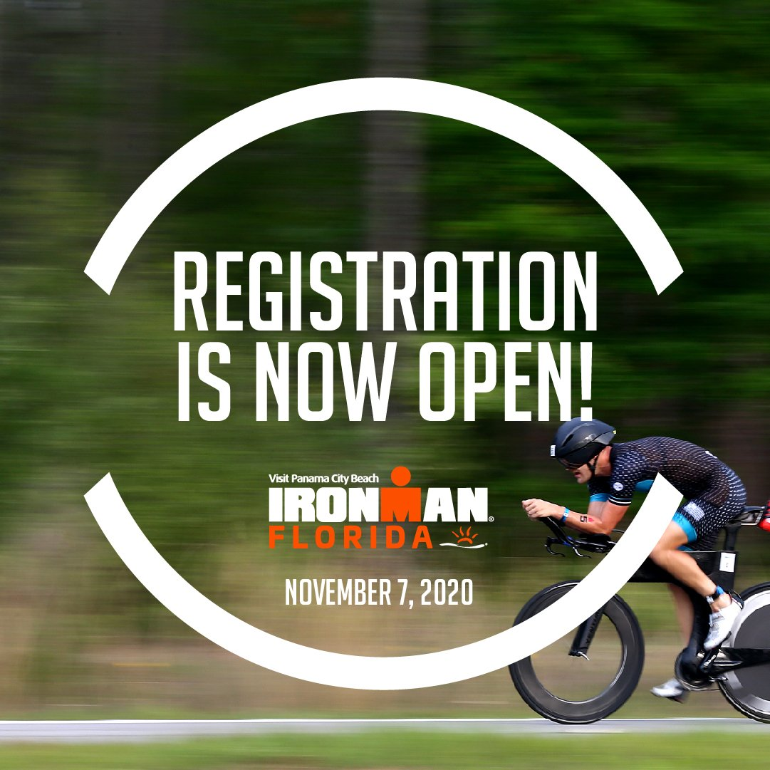 Whos planning to go to sunny Florida? 🙋♂️🙋♀️ Registration is now open for the 2020 @Visit_PCB IRONMAN Florida! #AnythingIsPossible #IMFL