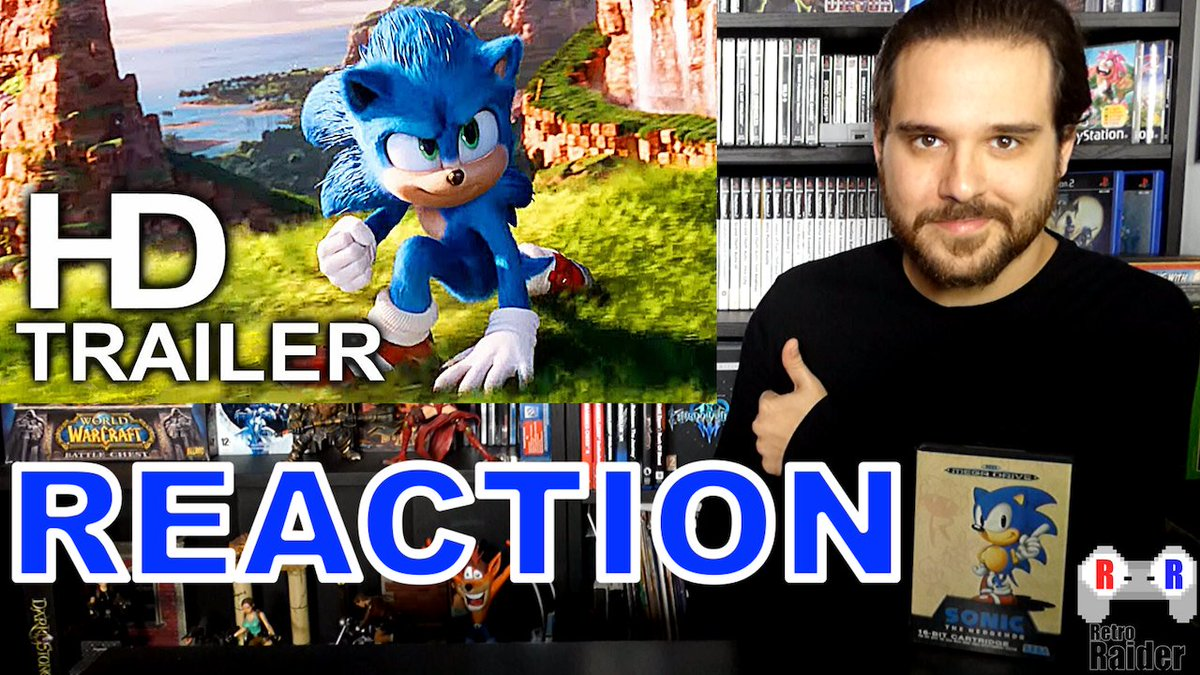 A huge change with this new trailer. What do you guys think? Game a Lot ;)  VIDEO: https://www.youtube.com/watch?v=WdOlqZVlEN4…  #SonicTheHedgehog #SonicMovieTrailer #SonicTrailer #SonicLiveaction #Sonic2020 #ParamounthPictures #SEGA #RetroGaming #Reaction #RetroRaiderpic.twitter.com/sxqI8E3gLX