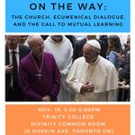 Image for the Tweet beginning: Upcoming Anglican-Roman Catholic Dialogue event,