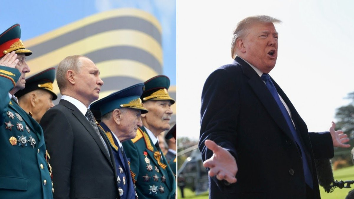 Trump is considering attending Moscow's May Day military parade. Anyone surprised? This would have been unheard of in years past. The fact that he's even considering it says it all. And has since the day Putin helped put this treasonous, easily exploitable mole into office.🤔