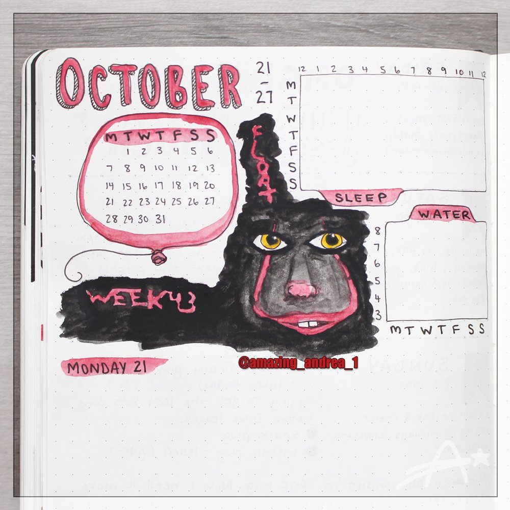 I'm finding it extremely hard to go back and finish these weeks 😓 Haven't even started November yet. How do you get your #motivation to keep going?  #bujo #bulletjournal #bulletjournaljunkies #bujojunkies #bulletjournaling #stayorganized #October #red #AmazingAndrea