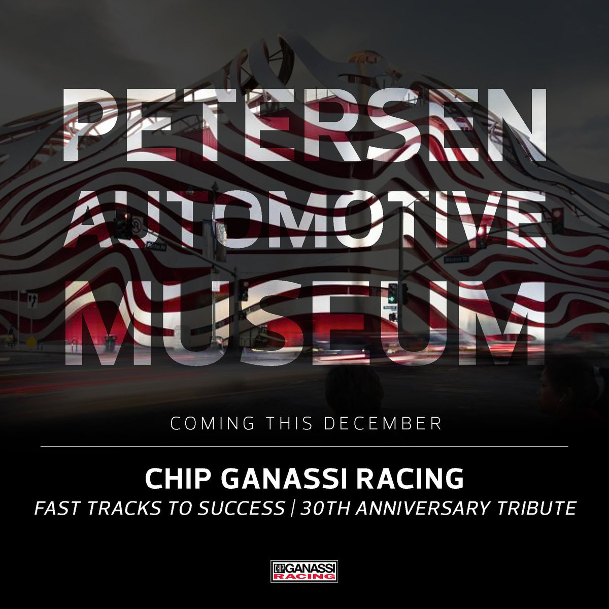 """This December, the @Petersen_Museum will debut a new exhibit titled """"Chip Ganassi Racing: Fast Tracks to Success   30th Anniversary Tribute"""" exemplifying the numerous #INDYCAR, #NASCAR and #IMSA racing successes of @GanassiChip.  For more info, visit http://bit.ly/2NIR95K."""