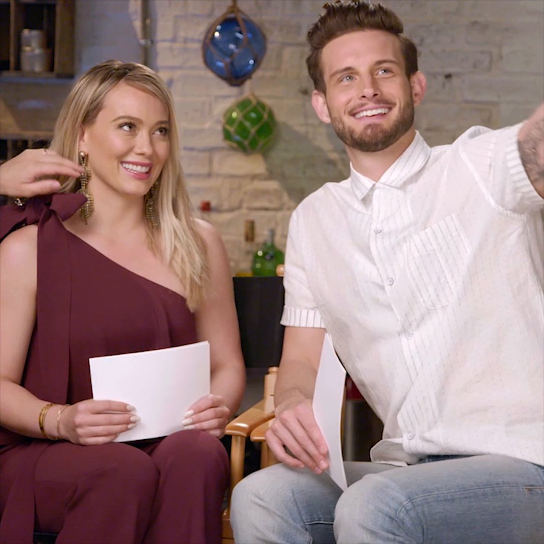 """Younger's Nico Tortorella Gets His """"Lizzie Moment"""" in This Hilarious Clip With Hilary Duff"""