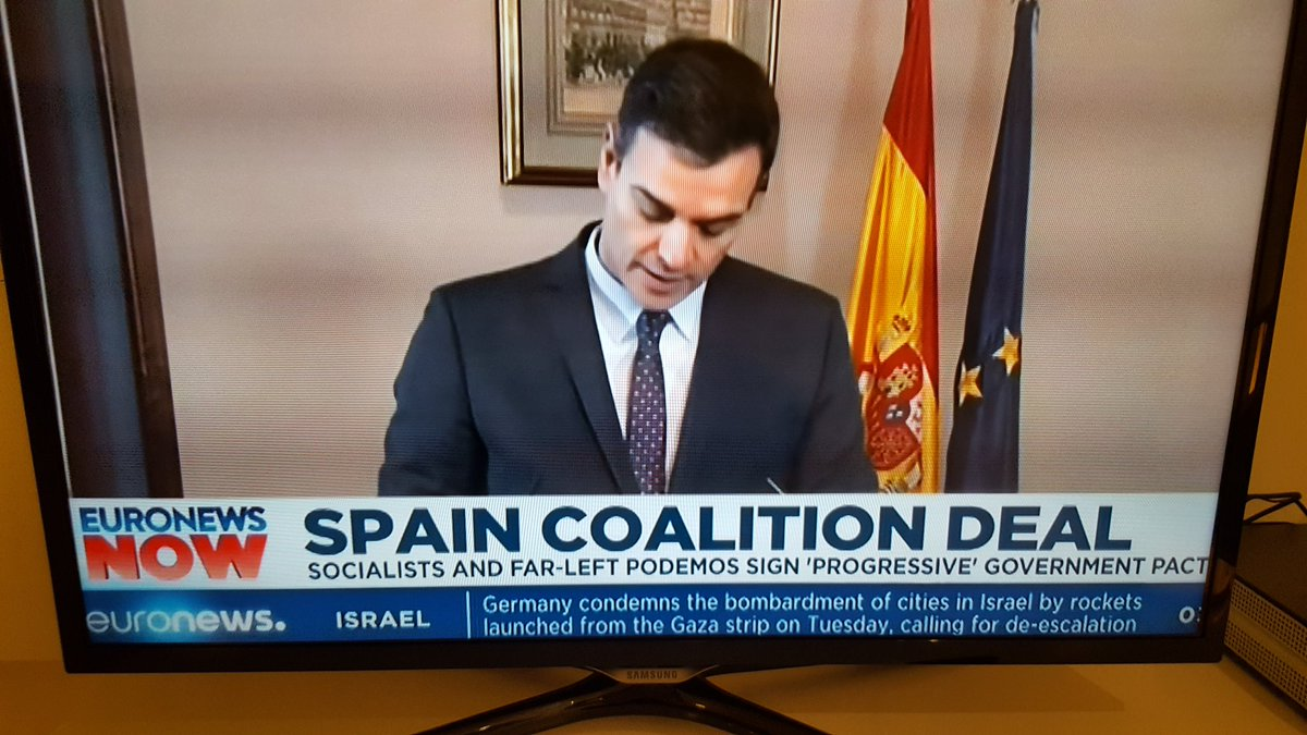 Good socialist news from Spain.Keeping the right wing populists out.