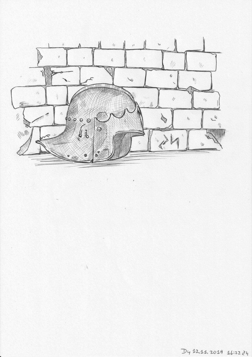 #drawing #Zeichnung #DigitalArt #sketch #Skizze #colored #farbig #gothic #Gotik #gotisch #helmet #Helm #Schaller #deutsch #wall #Wand #Mauer #steel #Eisen #iron #eisern #stählern #ballpointPen #pen #Kugelschreiber #variations