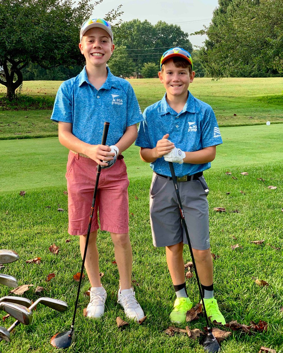 Say hello to the Hazard Brothers👋👋👋 Cooper (12) and Brandts (10) parents love that the PGA Jr. League format requires their boys to work together instead of competing against one another.