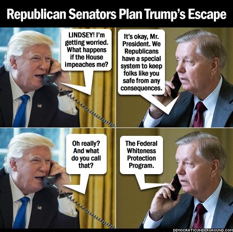 Republican Senators plan Trump's escape