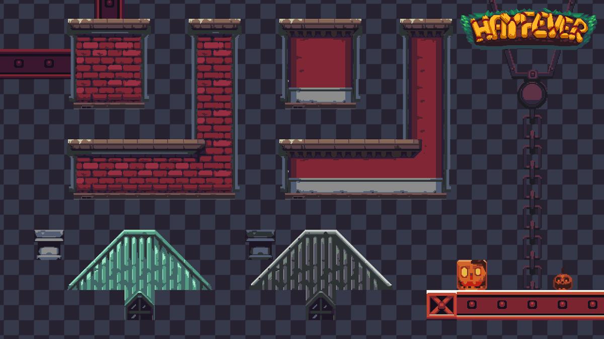 RT @ConnyNordlund: Some of the tilework I made for #HayfeverGame  #pixelart #gamedev https://t.co/lJftAzD9Br