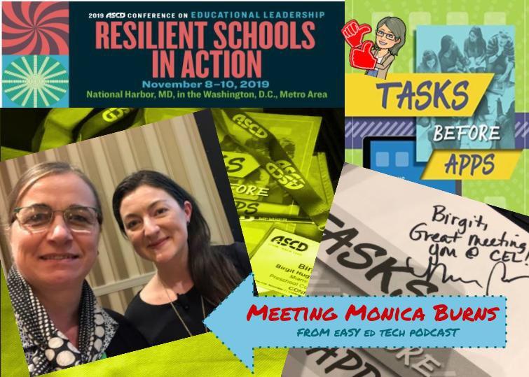 Got to meet Dra. Monica Burns @ASCDconf Keep on sharing new ideas! #ASCDcel #easyedtechpodcast @ClassTechTips #LIAHAWKS