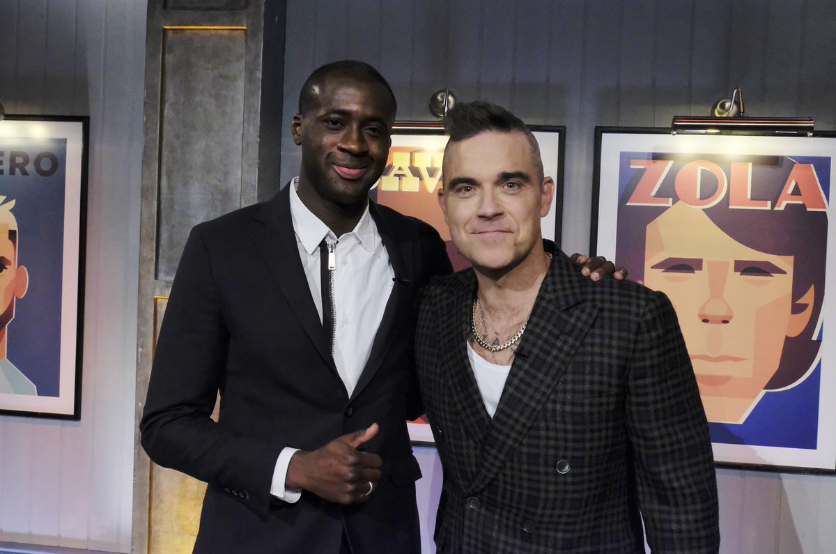 Great to see this fan of @OfficialPVFC 🤗 Super guy!!! @robbiewilliams 🙌🏾 #BOTN