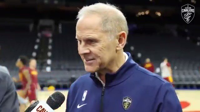 """""""They're getting more comfortable with the pace of the game.""""  Coach B on the rookies finding a rhythm on the road: https://on.nba.com/2NEJEwM  #BeTheFight"""