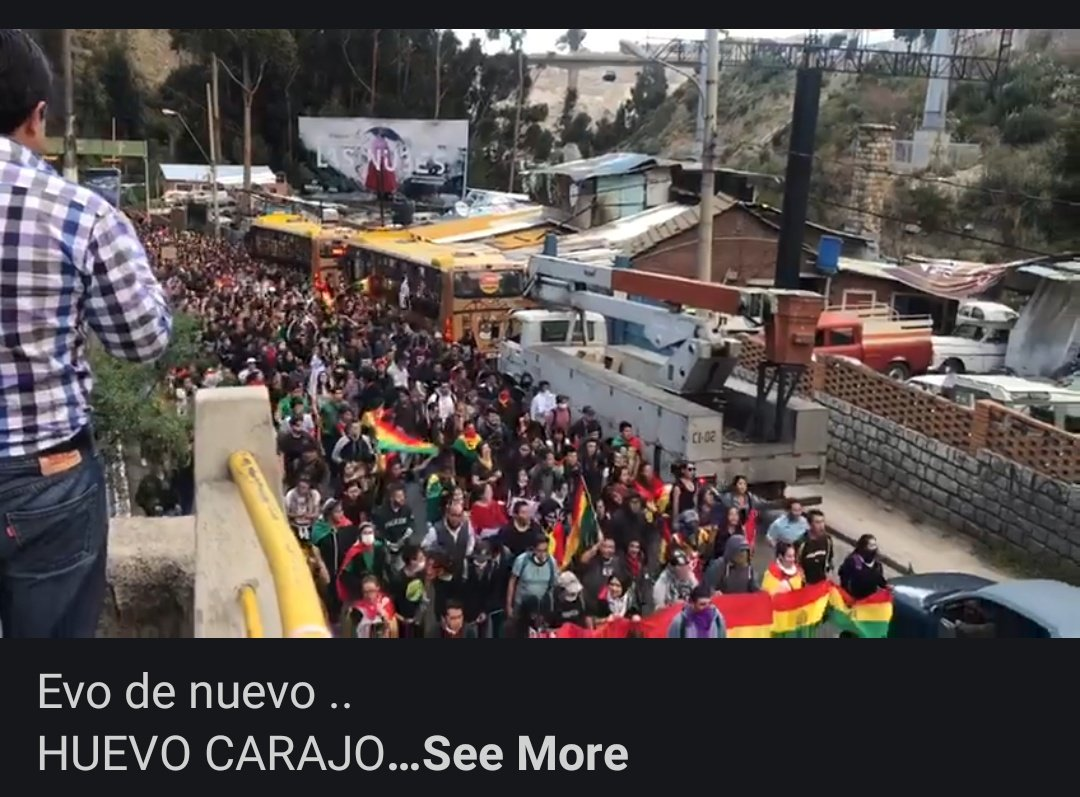 The beginning,  peaceful protest against THE FRAUD IN THE ELECTIONS,  no army,  no cops,  normal people protesting against an obvious Fraud Evo de nuevo?  Huevo Carajo! #EvoDictator #NoCoupInBolivia #FraudinBolivia   https:// m.facebook.com/story.php?stor y_fbid=10220204996865725&id=1551156664&sfnsn=mo&d=n&vh=i  … <br>http://pic.twitter.com/Ow0TSpATNe