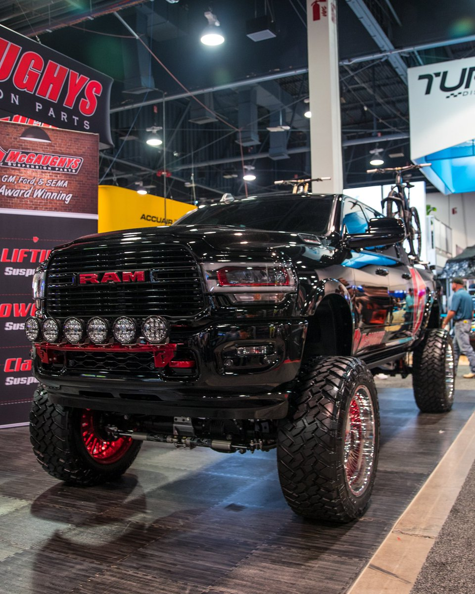 Standing tall at #SEMA2019 with our friends at #McGaughys Suspension.  ⠀ #Nitto   #NittoTire   #NittoTires   #TrailGrapplers   #Dodge   #RAM   #Lifted   #4x4   #SEMA   #SEMA19   #SEMAWithNitto   @SEMAShow   @NittoTire<br>http://pic.twitter.com/kDXnovwGOw