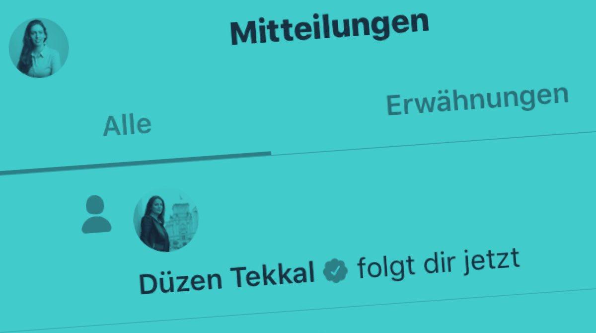 Wie cool ist das denn?? Für mich bist du wirklich ein tolles Vorbild, liebe @DuezenTekkal Freunde, bitte schaut euch Ihre Arbeit für #Menschenrechte und #Demokratie an @HawarHelp #Rolemodel #StarkeFrau pic.twitter.com/NyFkZ5Thi7