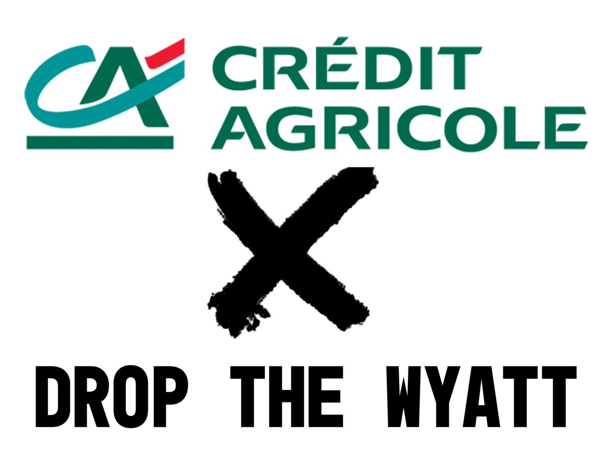 """Hey @CreditAgricole, your website claims that you """"do not tolerate any form of modern slavery or human trafficking."""" How do you justify holding bonds in the Wyatt Detention Center? Prisons are modern slavery, and you need to #DumpTheWyatt. Call 212-582-0743"""
