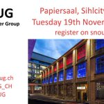 Image for the Tweet beginning: Our #SNoUG Event opens up