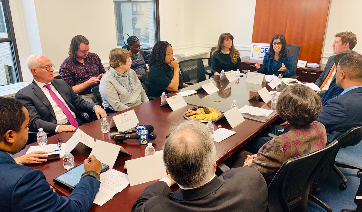 Today, @TheDemocrats CEO @SeemaNanda is in PA meeting leaders who delivered historic wins in Bucks, Chester, Delaware, and Montgomery counties.  We're discussing the kitchen-table issues and organizing that won in 2019 and how to build on that success statewide in 2020!