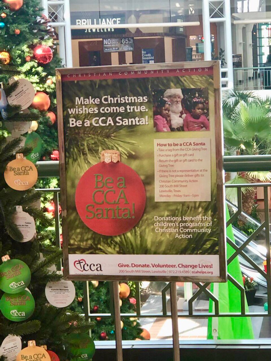 Music City Mall Lewisville On Twitter Be A Cca Santa Change Lives In Lewisville Texas With Ccalewisville By Donating A Gift To A Child This Year The Christmas Tree Is Located At