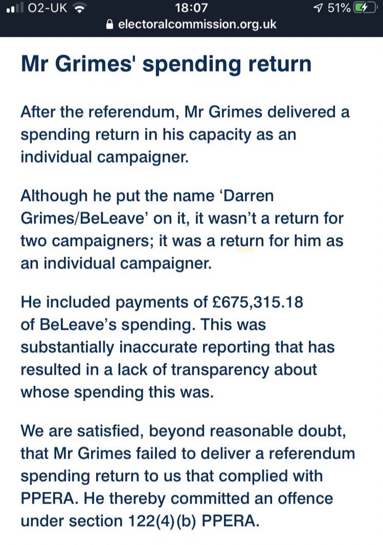 Where are all the people who were gleefully celebrating Darren Grimes getting away with fraud on a technicality a few weeks ago?