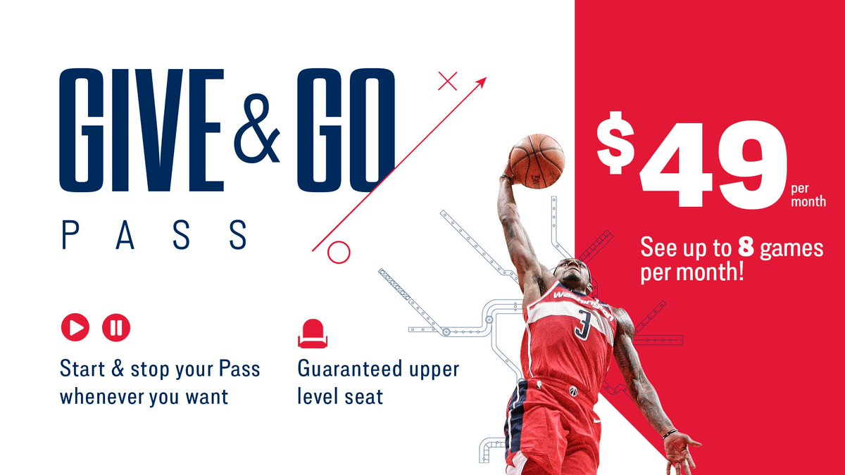 Get up to 8️⃣ games a month for just $49 with the Give & Go Pass!  👉 https://on.nba.com/2J1Niy6