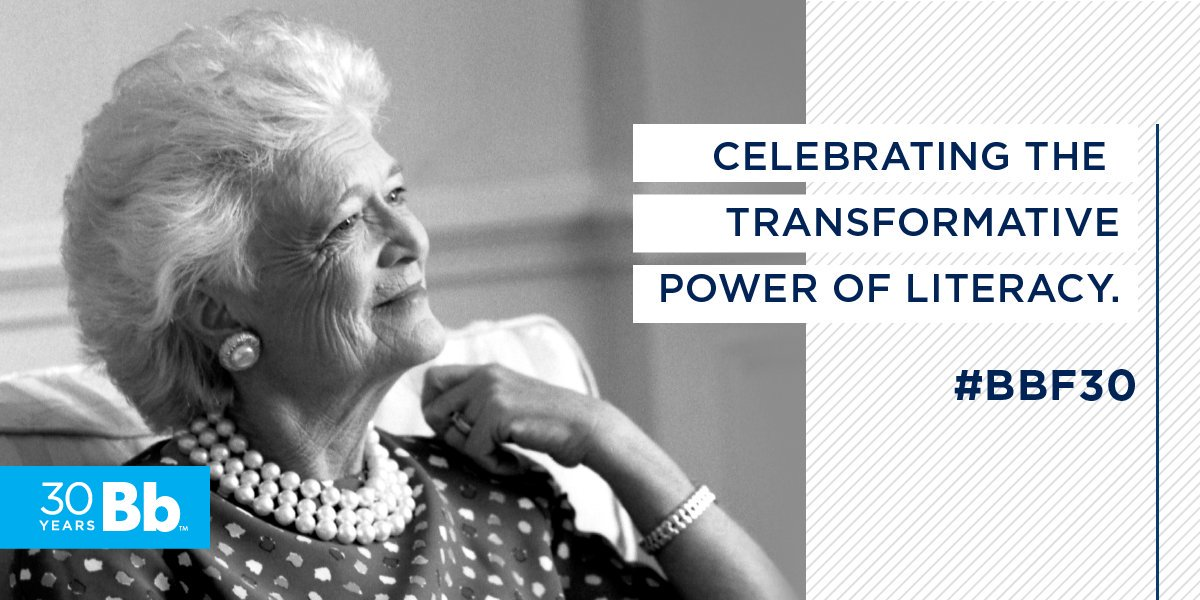 Thirty years ago, Mrs. Bush began our mission to improve #literacy in the United States. Tonight at our National Celebration of Reading, distinguished guests, bestselling authors, and Bush family members will gather to reaffirm our shared commitment to that vision. #BBF30