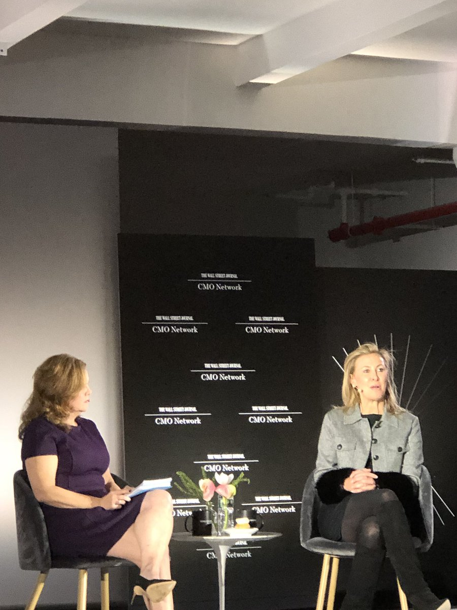 Listening to marketing extraordibaire @tif talk Purpose and SeeHer creation #WSJCMO. Ps 🥳 🎂
