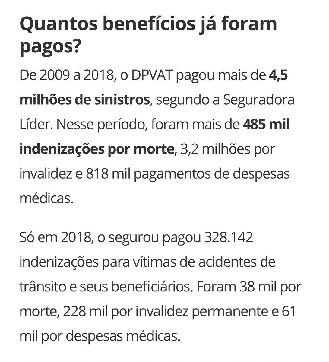 Foi isso aqui que o Bolsonaro JOGOU NO LIXO. A extinção do DPVAT e DPEM é um absurdo completo! São bilhões de reais retirados do SUS, que já sofre desesperadamente!