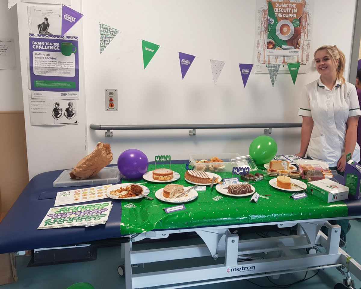 #Macmillancoffeemorning today at Crumpsall Vale, thank you to our wonderful Occupational Therapist @ChloeTivOT for running. Many thanks to all the staff, patients and families for supporting us in raising money! #Crumpsallvale https://t.co/wJYlDDwJLE