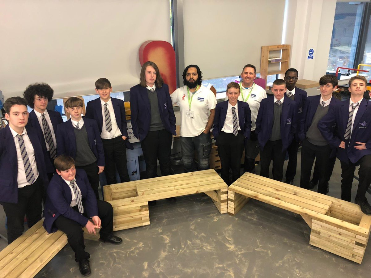 Proud of my year 9s for making 3 combination planters for the @ACADEMYSTNICKS. Well done everyone involved. @DT_St_Nicholas