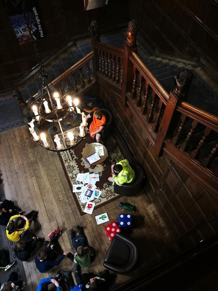 Giant cluedo inside the Hall 🌭🍅